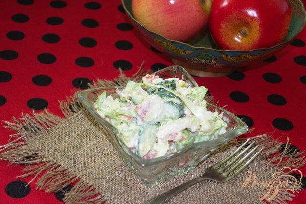 Рецепт Капустный салат с огурцом и курицей