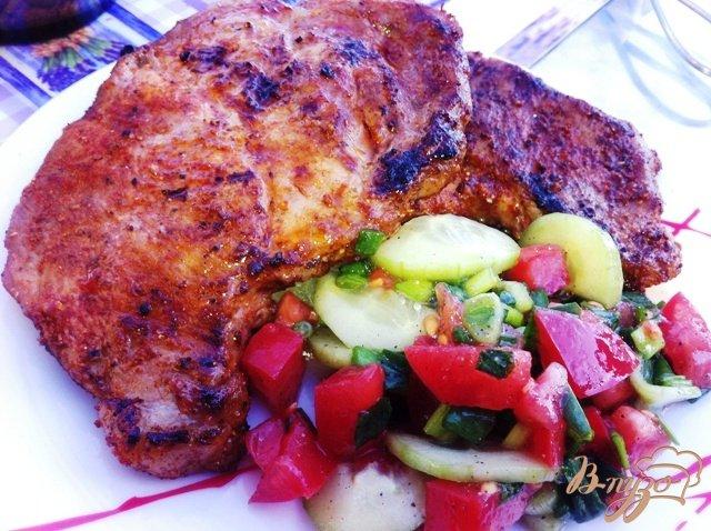 Фото приготовление рецепта: Запеченное мясо порционно шаг №5