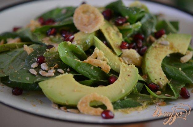 Рецепт Шпинатный салат с авокадо