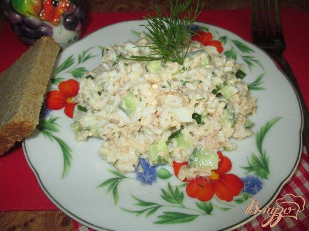 Рецепт Салат с рисом и тунцом