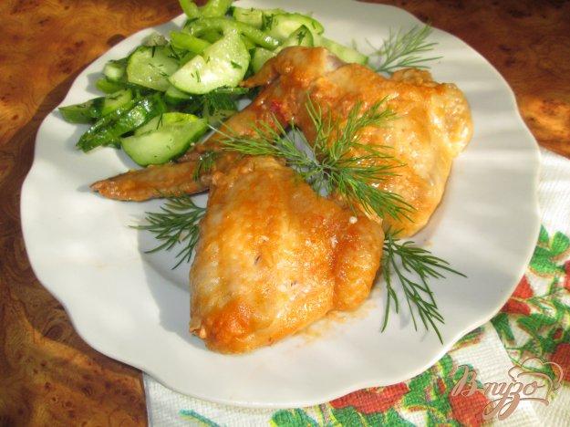 Рецепт Куриные крылышки запеченные в соусе