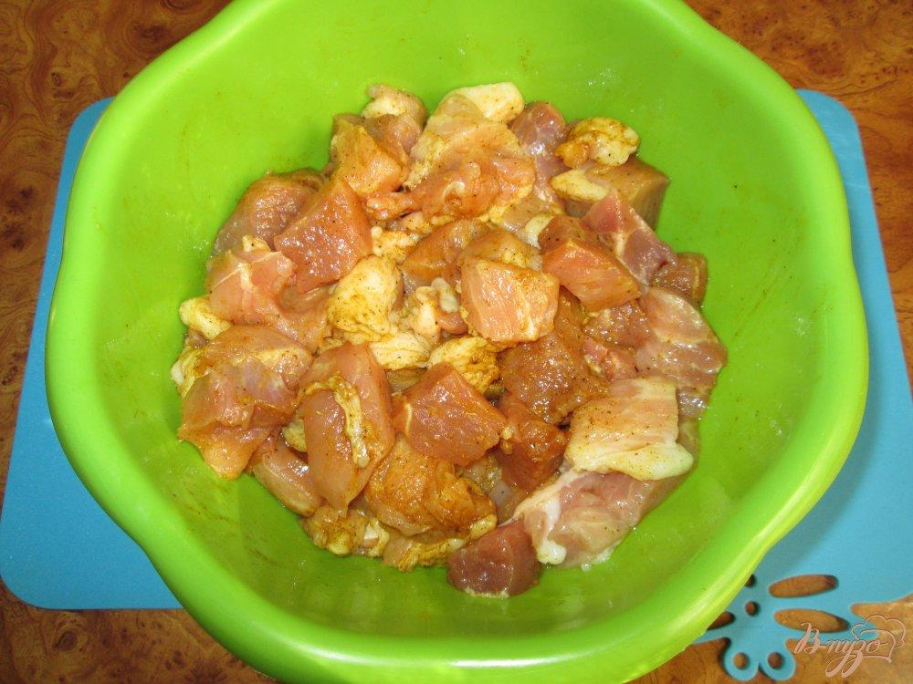 Фото приготовление рецепта: Свинина в соевом соусе шаг №4