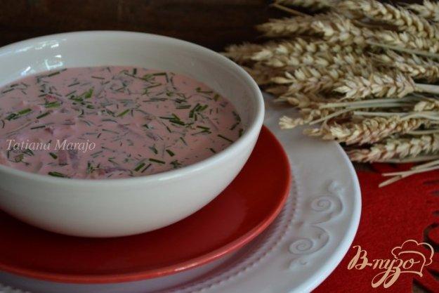 Рецепт Окрошка со свеклой и копченой курятиной