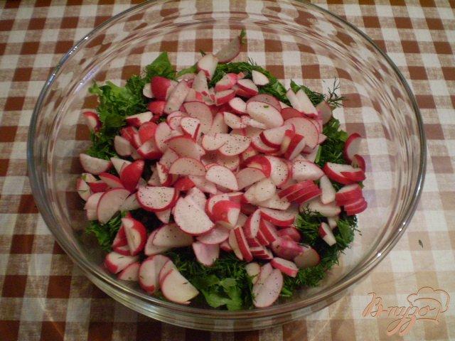 Фото приготовление рецепта: Овощной салат к мясу шаг №4