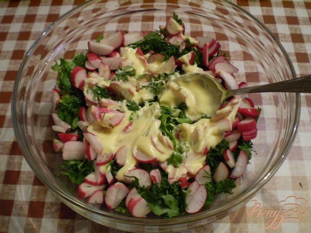 Фото приготовление рецепта: Овощной салат к мясу шаг №5