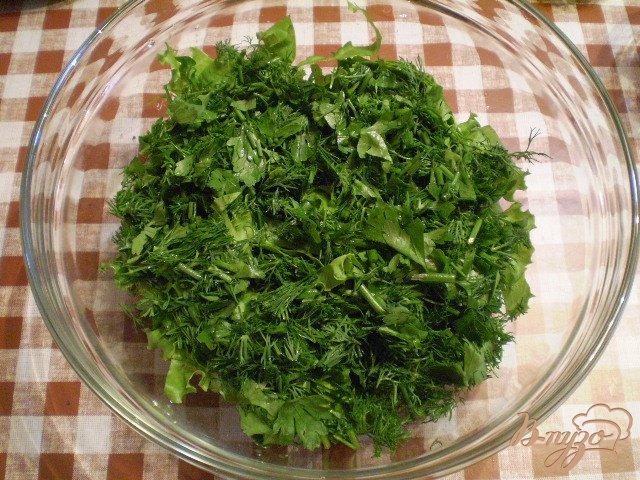 Фото приготовление рецепта: Овощной салат к мясу шаг №3