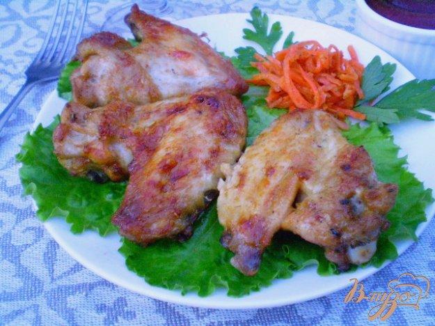 Рецепт Крылышки жаренные на мангале