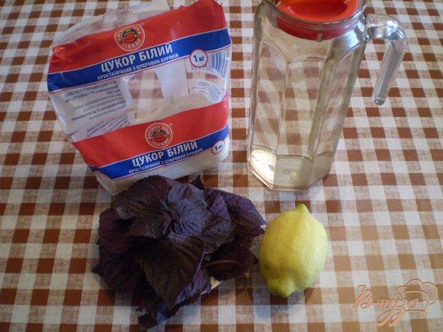 Фото приготовление рецепта: Лимонад из базилика шаг №1