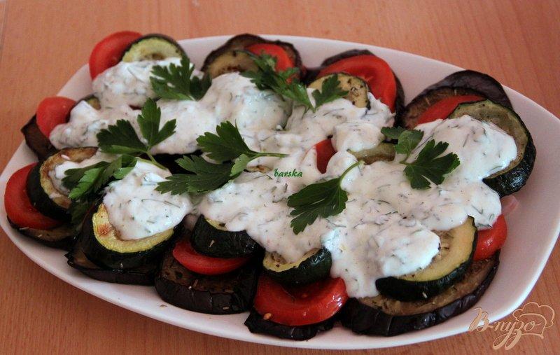 Фото приготовление рецепта: Салат из запечённых овощей шаг №6