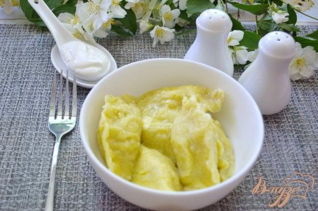 фото рецепта: Картофельные вареники с курицей