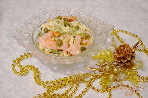 Рецепт Овощной салат с авокадо, помидором и сыром
