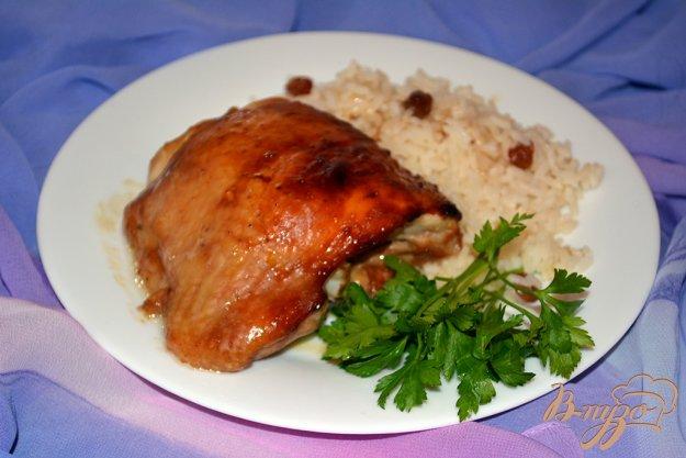 фото рецепта: Курица в соусе Терияки с рисом и изюмом