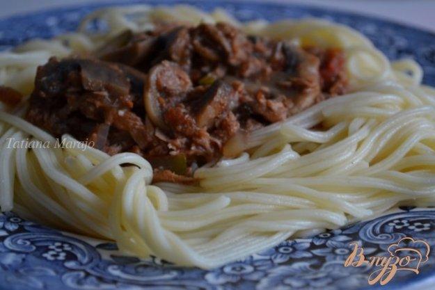 Рецепт Соус к пасте из грибов с тунцом
