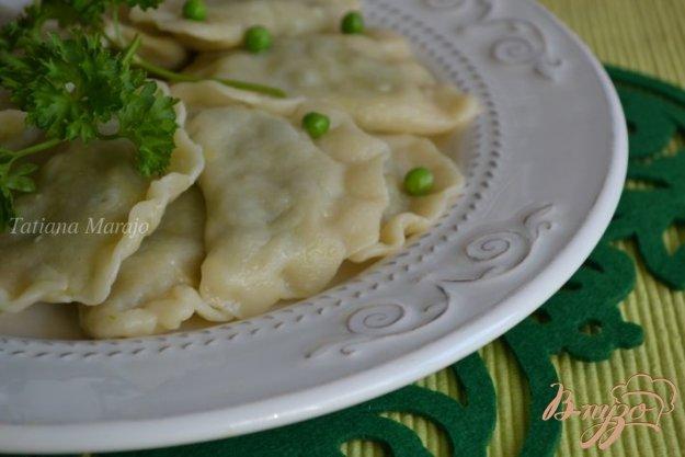 Рецепт Вареники с картофельно-гороховой начинкой