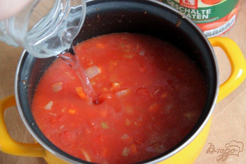Фото приготовление рецепта: Томатный суп с травами и творожными шариками шаг №2