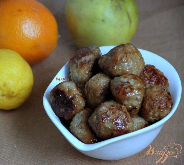 Рецепт Тефтельки с яблоком в цитрусовой глазури