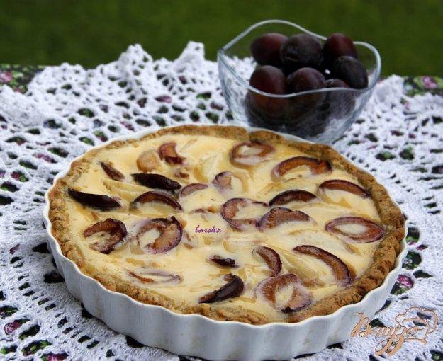 Рецепт Тарт со сливами и грушей