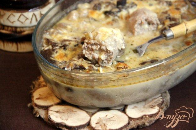 Рецепт Зразы с сыром, запечённые в сливочно-грибном соусе