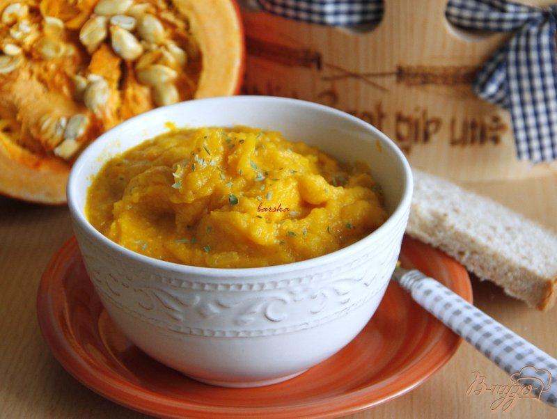 Фото приготовление рецепта: Пряный тыквенно-картофельный суп-пюре шаг №7