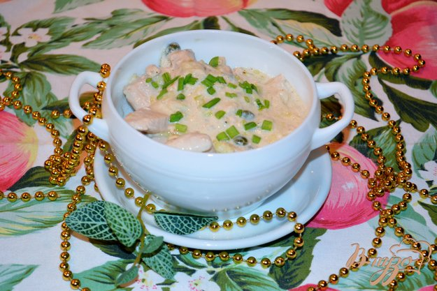 фото рецепта: Куриное филе в сливочном соусе с каперсами