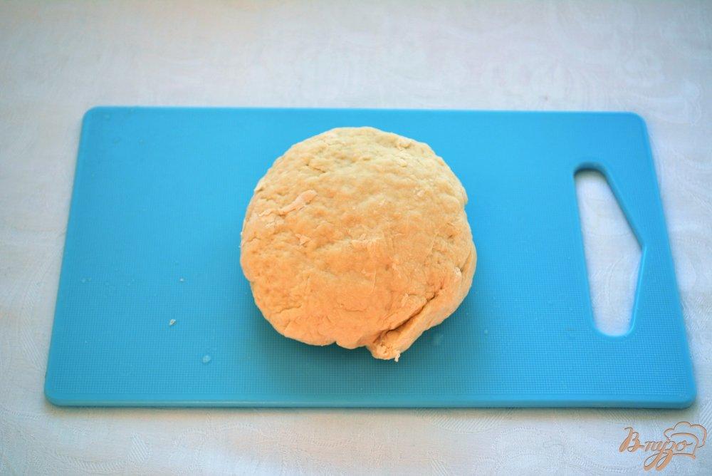 Фото приготовление рецепта: Китайские лепешки с зеленью шаг №4
