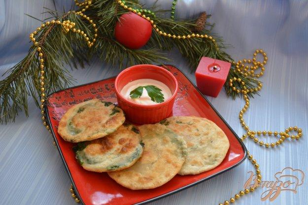 фото рецепта: Китайские лепешки с зеленью
