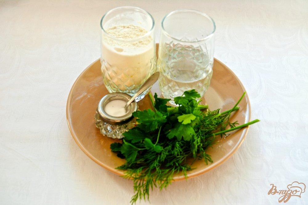 Фото приготовление рецепта: Китайские лепешки с зеленью шаг №1