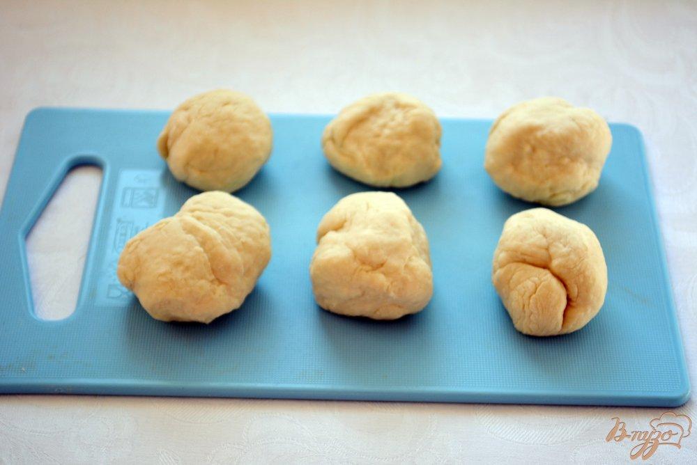 Фото приготовление рецепта: Китайские лепешки с зеленью шаг №5
