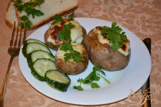Рецепт Картофель с начинкой запеченый с сыром