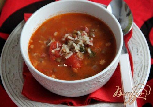 Minestra di riso - итальянский рисовый суп с чечевицей