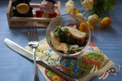 Салатик с редисом и курицей