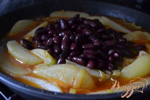 Картофельные дольки с тунцом