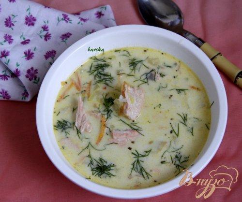 Суп из сёмги и кабачка, с рисом