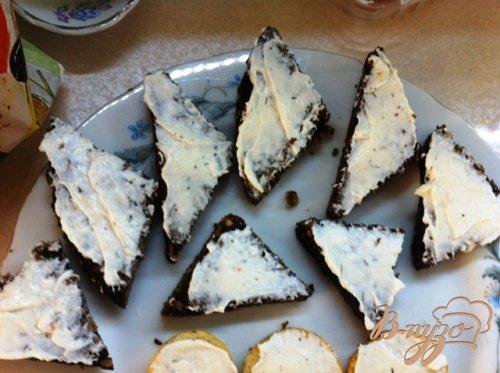 Канапе с сыром Филадельфия  и лососем