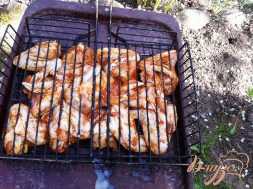 Куриные крылья барбекю