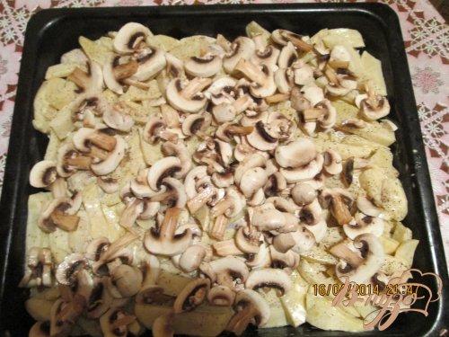 Картошечка на крыльях с грибами