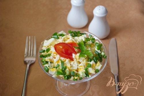 Рыбный салат с горбушей