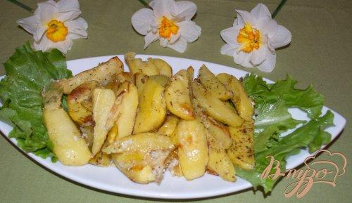 Картофель в белке, приготовленный в духовке