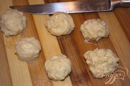 Суп с сырными шариками-клецками