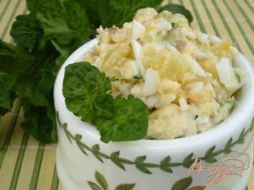 Рыбный салат из минтая