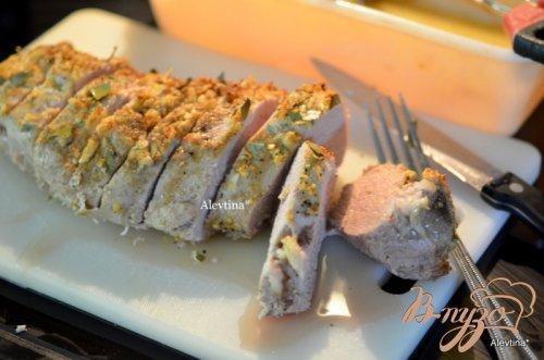 Свиная вырезка по-кубински с рисом шафрановым