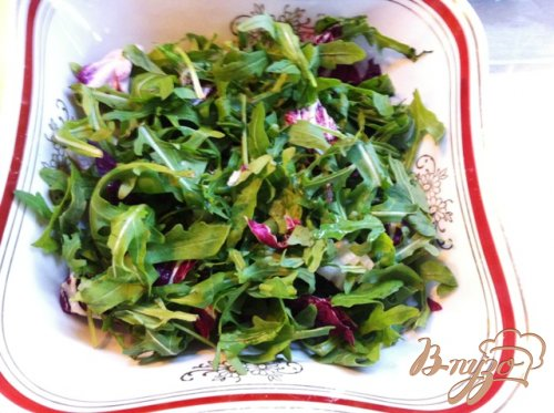 Салат овощной с языком
