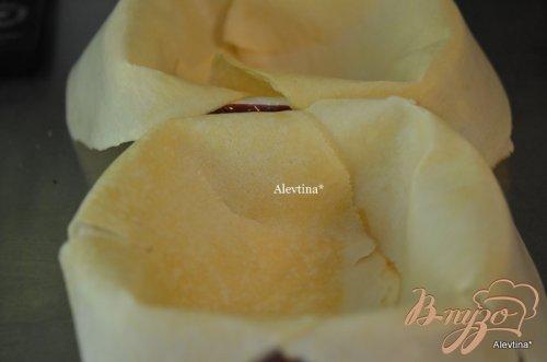Террин из блинчиков с вишневой-яблочной  начинкой