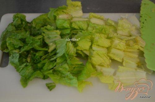 Салат овощной с чесночной заправкой
