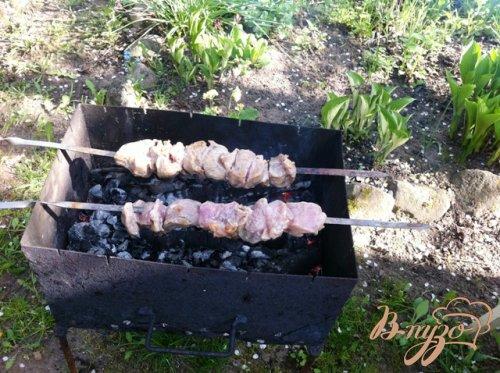 Шашлык из свинины, маринованный на кефире