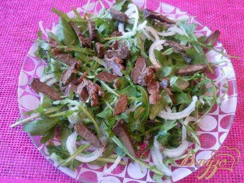 Салат из говяжьей печени с гранатом