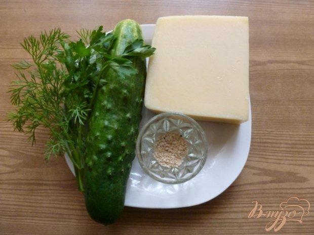 Закуска из огурцов и сыра