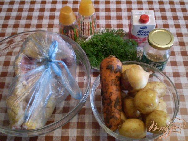 Утка с молодым картофелем и укропом
