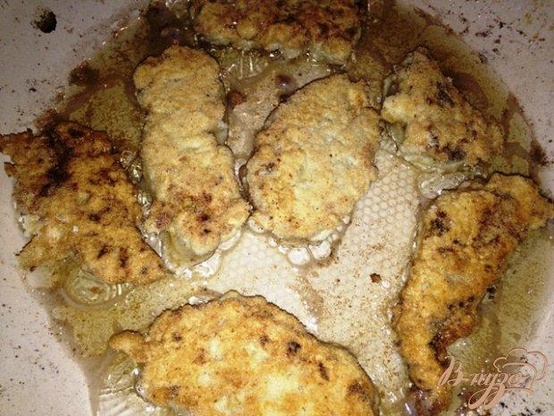 Куриные пальчики с сырным соусом