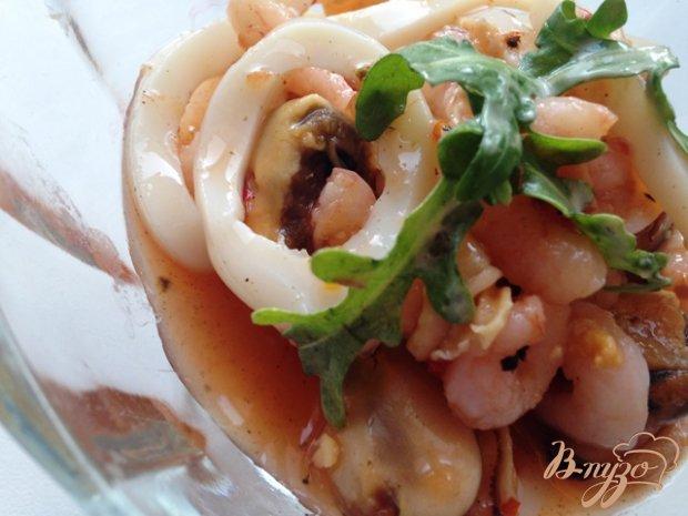 Закуска из морепродуктов в сладком маринаде